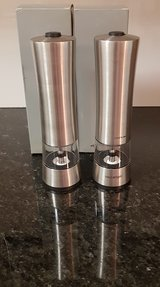 Electric pepper and salt mill set - stainless steel 18/10 - NEW / original packaging in Spangdahlem, Germany
