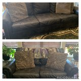 Faux Leather Sofa & Love Seat in Fort Knox, Kentucky