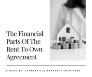The Financial Parts Of The Rent To Own Agreement in Fort Campbell, Kentucky