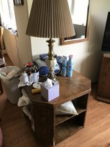 End table Book case and lamp in Naperville, Illinois