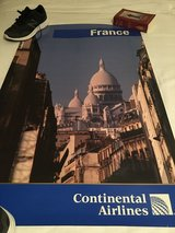 Continental airlines France poster in Kingwood, Texas