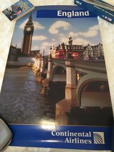 Continental Airlines England poster in Kingwood, Texas