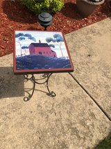 hand painted plant stand in Naperville, Illinois