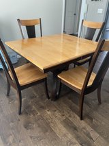 Amish Made Table with 4 Chairs & 2 Counter Height Bar Stools in Peoria, Illinois