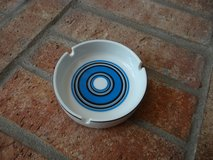 White and blue ashtray in Kingwood, Texas
