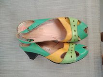 Cute real leather sandals with fun colors in Saint Petersburg, Florida