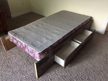 Wood Bed Frame w/ 4 Drawers in Beaufort, South Carolina
