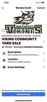 Viking football team yard sale in Fort Campbell, Kentucky