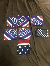 5 USO table toppers & 2 Flags in Okinawa, Japan