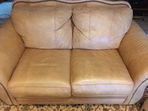 LEATHER LOVESEAT AND CHAIR in Okinawa, Japan