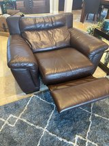 brown leather recliner in Conroe, Texas