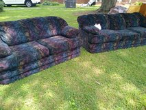 Couch & Love Seat Set-good condition in Fort Campbell, Kentucky