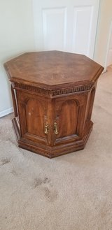 Solid wood end table in Naperville, Illinois