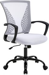 White Ergonomic Adjustable Office Chair - Fully Assembled - New! in Naperville, Illinois