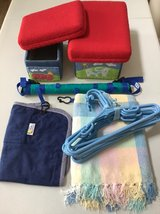 Lot of 6 Baby Storage Toys, Hangers, Blanket, Nursing Coverup, Stroller Activity Bar in Naperville, Illinois