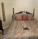 Bedroom suite - queen bed, dresser/mirror, highboy chest, bedside table, luggage stool, excellen... in Camp Lejeune, North Carolina