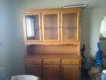 solid oak china hutch two peice in 29 Palms, California