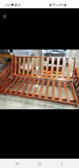 Solid Cherry Wood Futon Couch Bed Frame in Fort Campbell, Kentucky