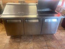 3 Door Mega Top Stainless Steel Refrigerated Sandwich Prep Table in Fort Campbell, Kentucky