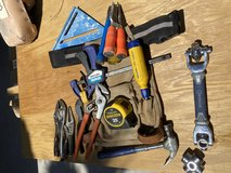Mixed tools and Tool Belt in 29 Palms, California