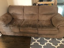 Brown microfiber couch-great for college! in St. Charles, Illinois