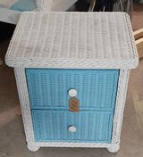 Two Drawer Wicker Coastal Themed Side/End Table Indoor/Outdoor in Melbourne, Florida