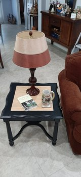 Beautifully restored Black All Wood Side/End Table 24 x 24 x 21 in Melbourne, Florida