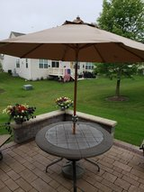 Patio Stone Table Top with Umbrella in St. Charles, Illinois