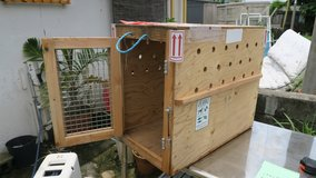 crate airline approved 24''T X 17''W X 28''D (mesuments are from the inside of the crate) in Okinawa, Japan