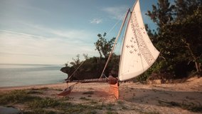 Sailing sessions on an Outrigger Sailing Canoe in Okinawa, Japan