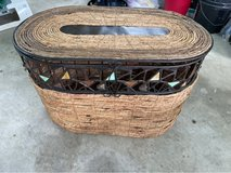 small metal and hand woven trunk in Okinawa, Japan