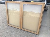 Large 4 foot wide wood/glass display unit in Alamogordo, New Mexico