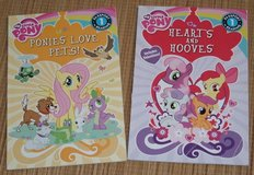 2 My Little Pony Books Ponies Love Pets & Hearts and Hooves Level 1 Reading in Joliet, Illinois