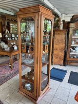 gorgeous curio cabinet on a turning foot in Spangdahlem, Germany