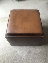 Leather Picasso Hide Storage Cube/table/seat in Lakenheath, UK