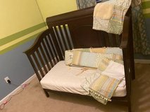 Dresser, crib w/mattress and crib bedding included - $350 in Bellaire, Texas
