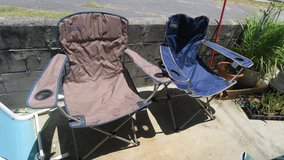2 large coleman folding chair for adults 20/2000yen each or 30$/3000yen for the 2 in Okinawa, Japan