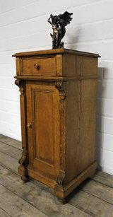 Antique Country Style Nightstand Made from Solid Oak in Ramstein, Germany