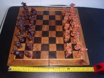 Vintage Chess Board with Jungle Animal Pieces and Regular wooden pieces Amazing in Miramar, California