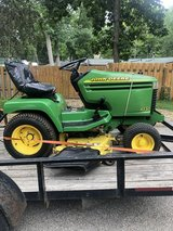 JOHN DEERE 345 HEAVY DUTY GARDEN TRACTOR WITH SNOW BLOWER AND MANUALS in Naperville, Illinois