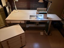 Sewing Desk & Machine in Fort Campbell, Kentucky