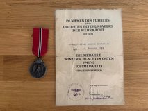 WW 2 German Eastern Front Medal and Document and photo grouping in Stuttgart, GE