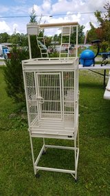 Large Metal Bird Cage on Wheels with Play Yard #1754-1014 in Camp Lejeune, North Carolina