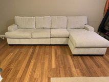 Gorgeous Cream 3-Piece Sectional with Chaise in Fairfax, Virginia