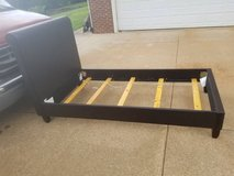 ISG Furniture Faux Leather Upholstered Twin Expresso Bed Frame in Fort Campbell, Kentucky