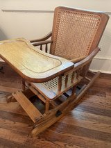 Vintage Wicker Baby Highchair that converts to Child Rocker in Beaufort, South Carolina