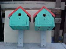 TEAL & RED BIRDHOUSE 3 AVAILABLE in Camp Lejeune, North Carolina