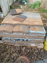 Pallet of roofing shingles in Alamogordo, New Mexico