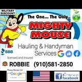 Mighty Mouse hauling and handyman services in Camp Lejeune, North Carolina
