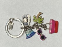 Coach Keychain with enamel charms beach vacation theme in St. Charles, Illinois